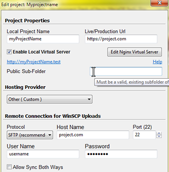 Basic Usage - Getting Started - WinNMP (wt-nmp) manager